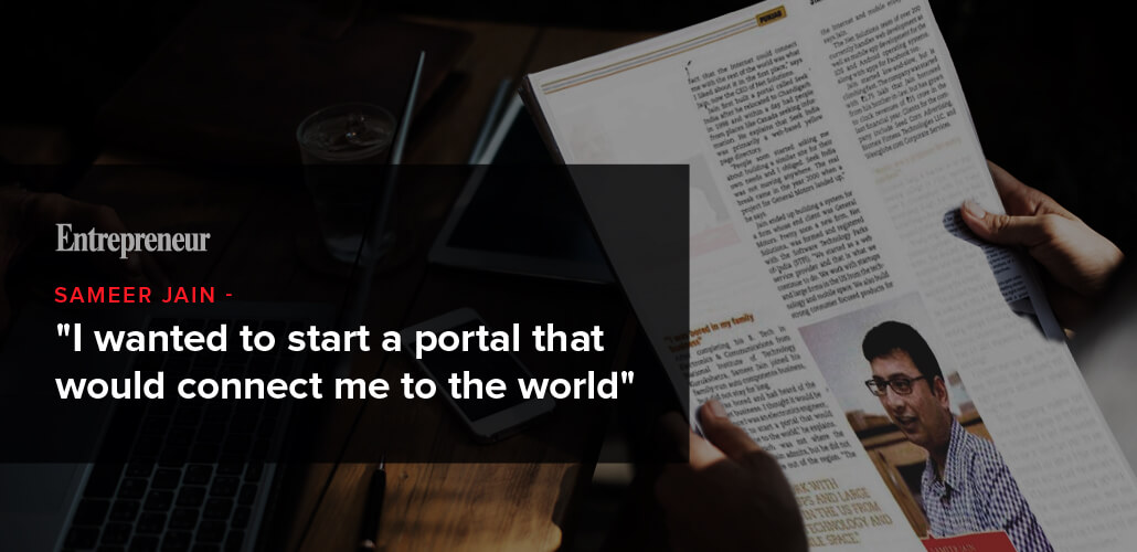 'I wanted to start a portal that would connect me to the world'