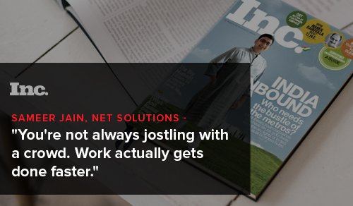 You're not always jostling with a crowd. Work actually gets done faster.