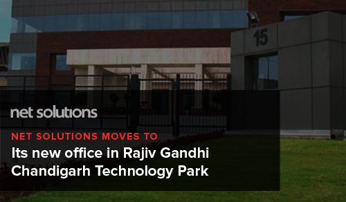 Net Solutions moves to its new office in Rajiv Gandhi Chandigarh Technology Park