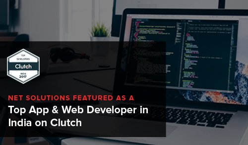 Net Solutions Featured as a Top App & Web Developer in India on Clutch