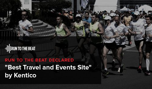 Run To The Beat declared 'Best Travel and Events Site' by Kentico