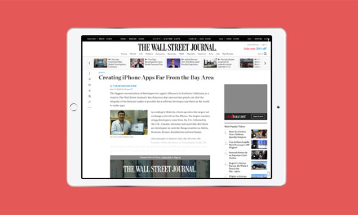 Wall Street Journal features Net Solutions' iPhone Development Skills