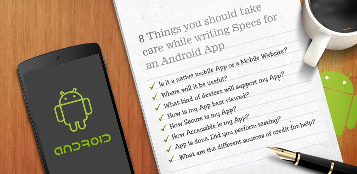 Writing Specs for an Android App