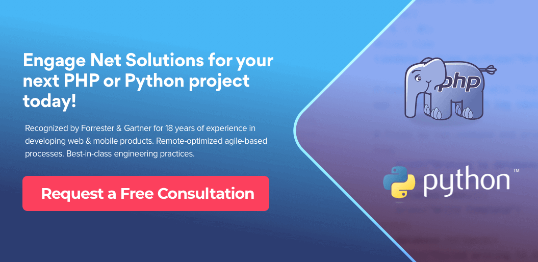 Request free consultation for Python development