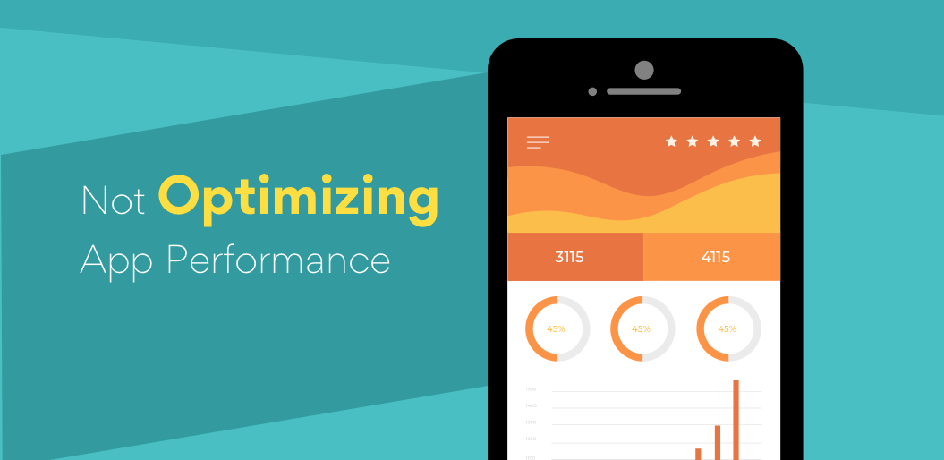 Not optimizing performance could cause mobile apps to fail