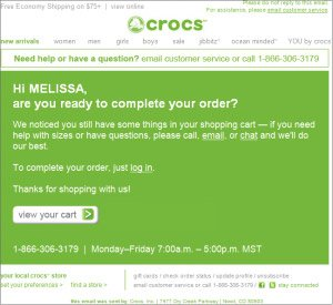 Crocs Email marketing Campaign