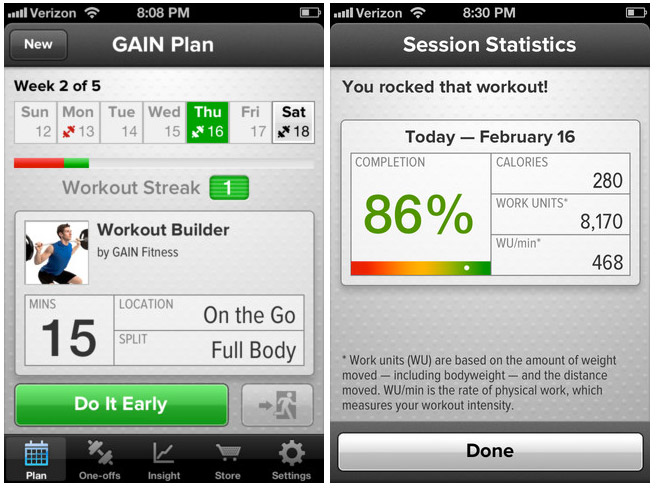 GAIN Fitness session overview