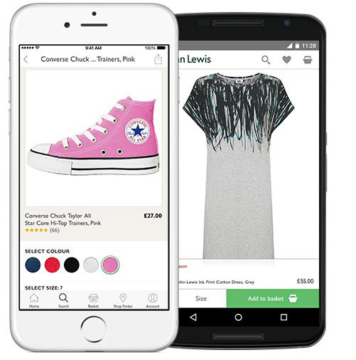 John Lewis Mobile App for Android and iOS