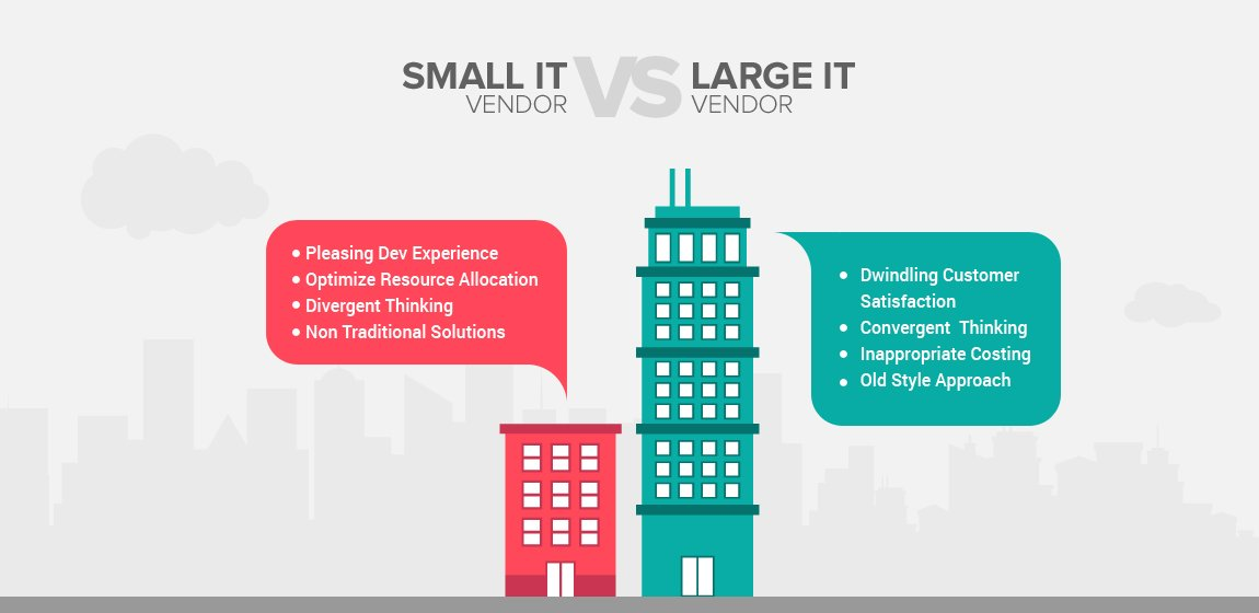 Small IT vendors vs large IT vendors