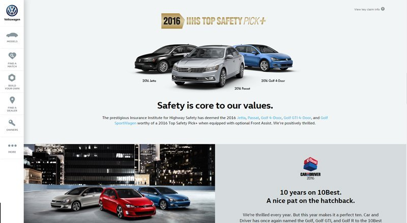 Volkswagen Site Design