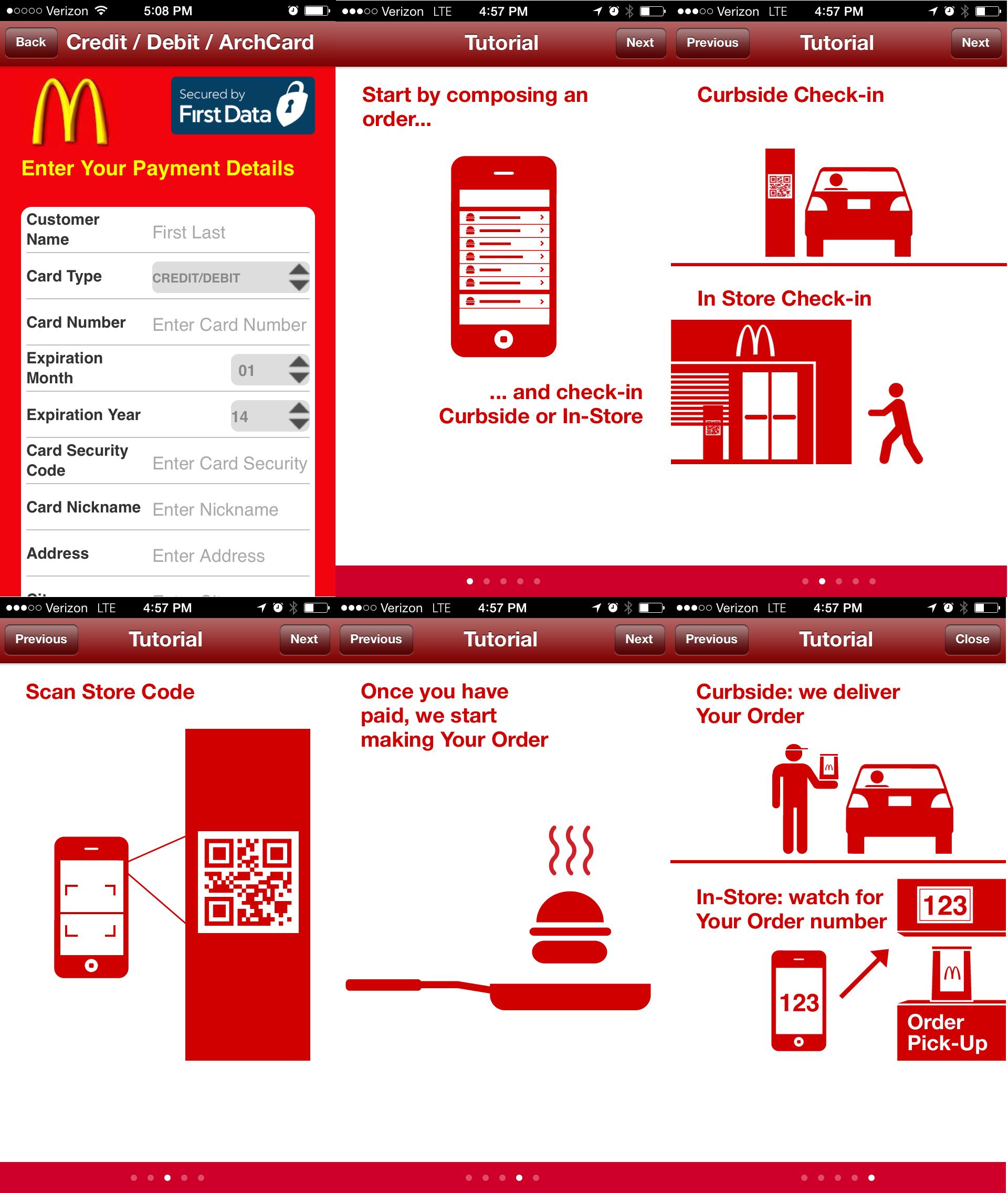 Mcdonalds order ahead mobile moment