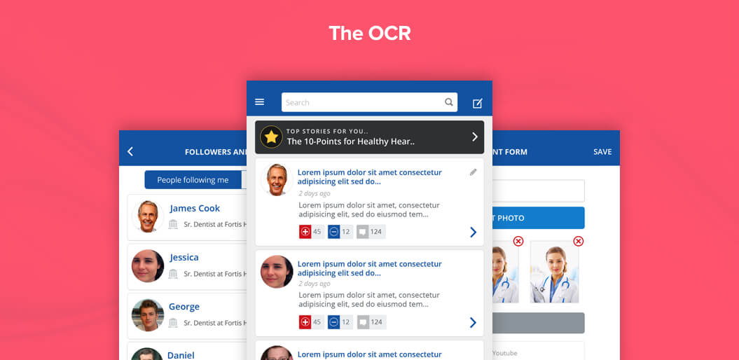 The OCR - Mobile Healthcare App for iOS and Android