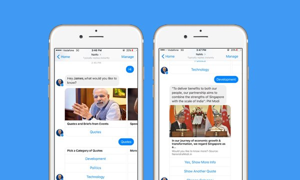 Introducing NaMo Bot – A Facebook ChatBot to Get All The Information About PM Modi thumb