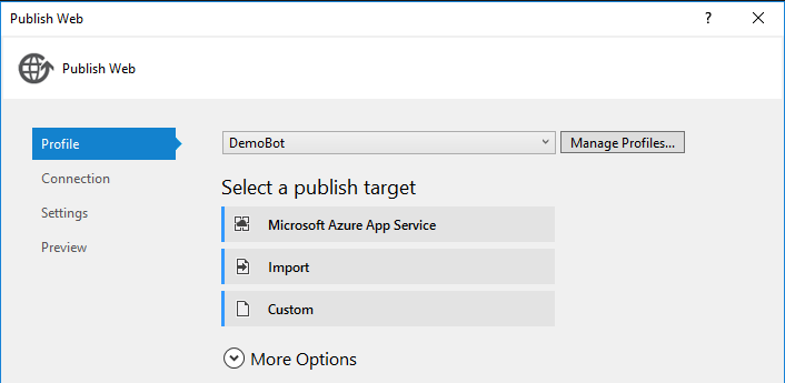 Publish Your Bot To Azure