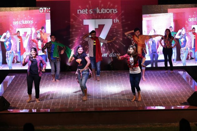 Bollywood Dance Fusion by Trainees At Net Solutions