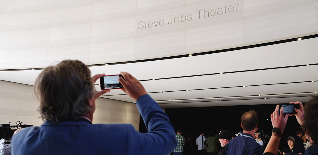 Audience Gathering at the Steve Jobs Theater before the start of the Event.