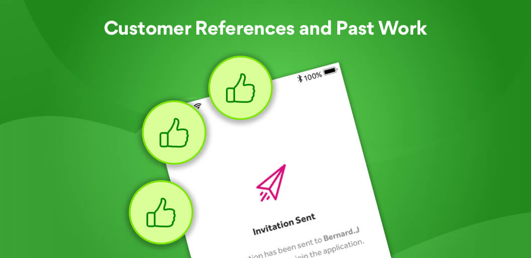 Can you app development partner give customer references and past work?