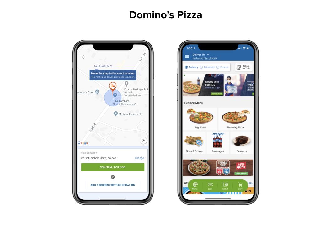 Domino's Pizza Mobile UX