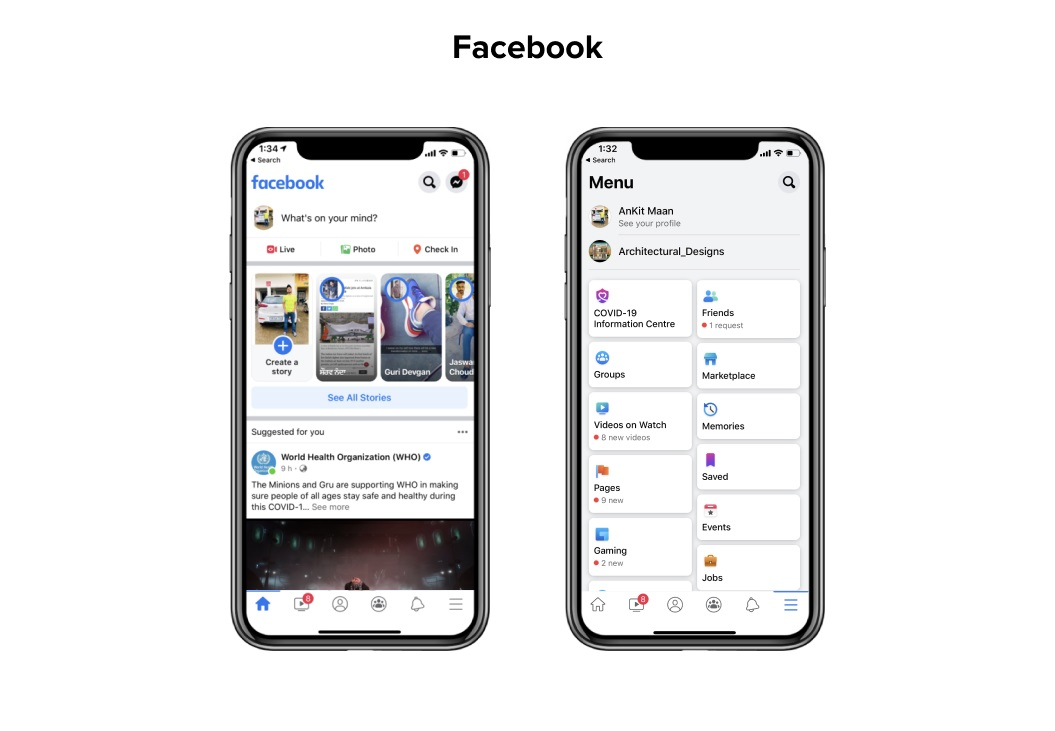 Facebook Mobile UX