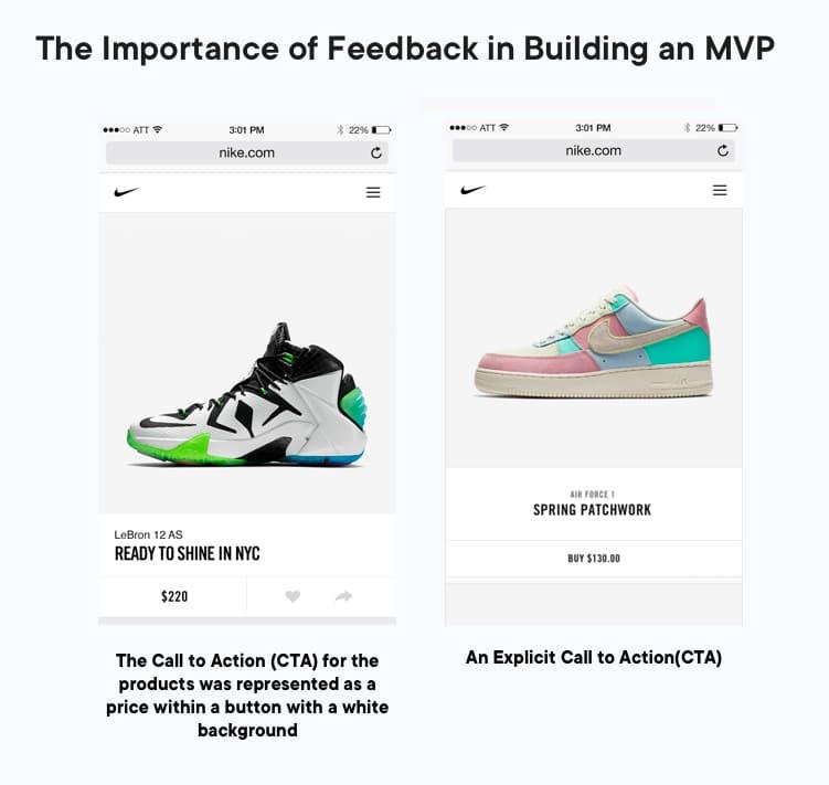 How Nike adopted the customers' feedback in MVP