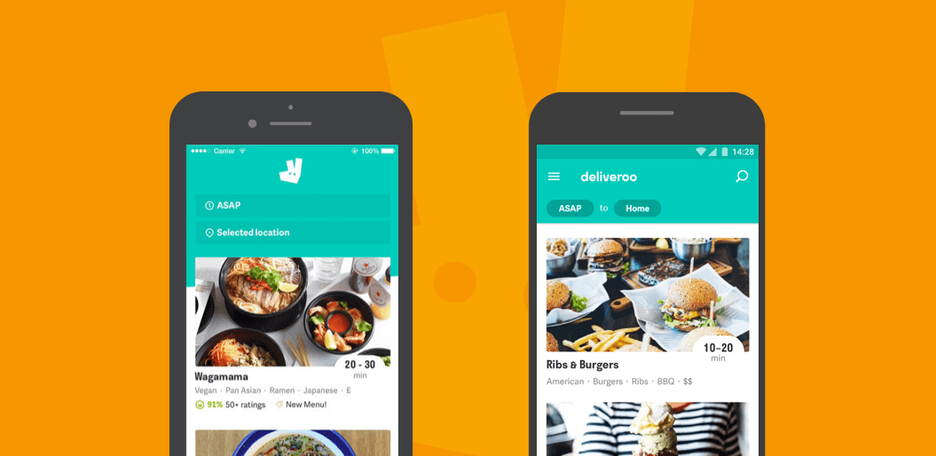 Different UX in Deliveroo iOS and Android