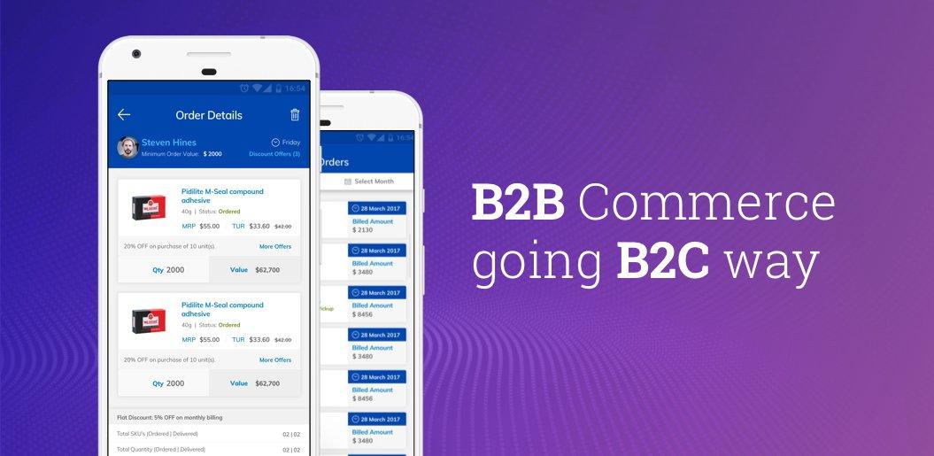 B2B Commerce going B2C way
