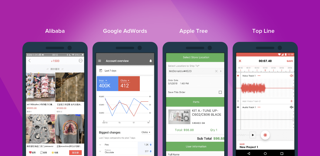 Apps Built With These Frameworks