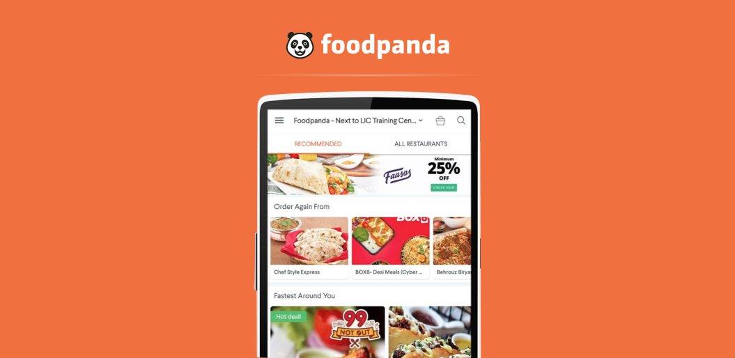 FoodPanda online food ordering app