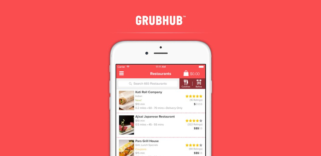 Grubhub on-demand delivery app