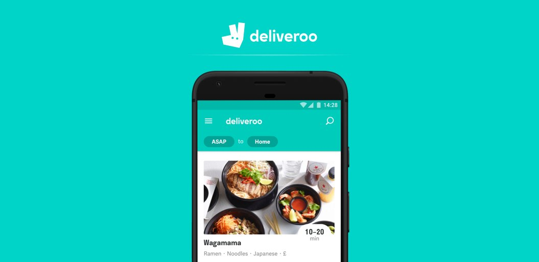 Deliveroo online food delivery app