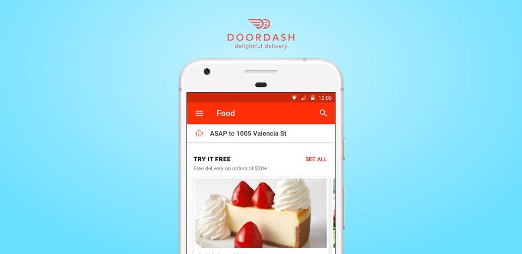Door Dash on-demand delivery app