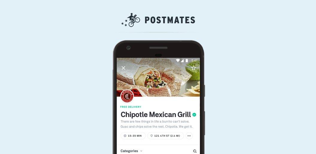 Postmates food delivery app