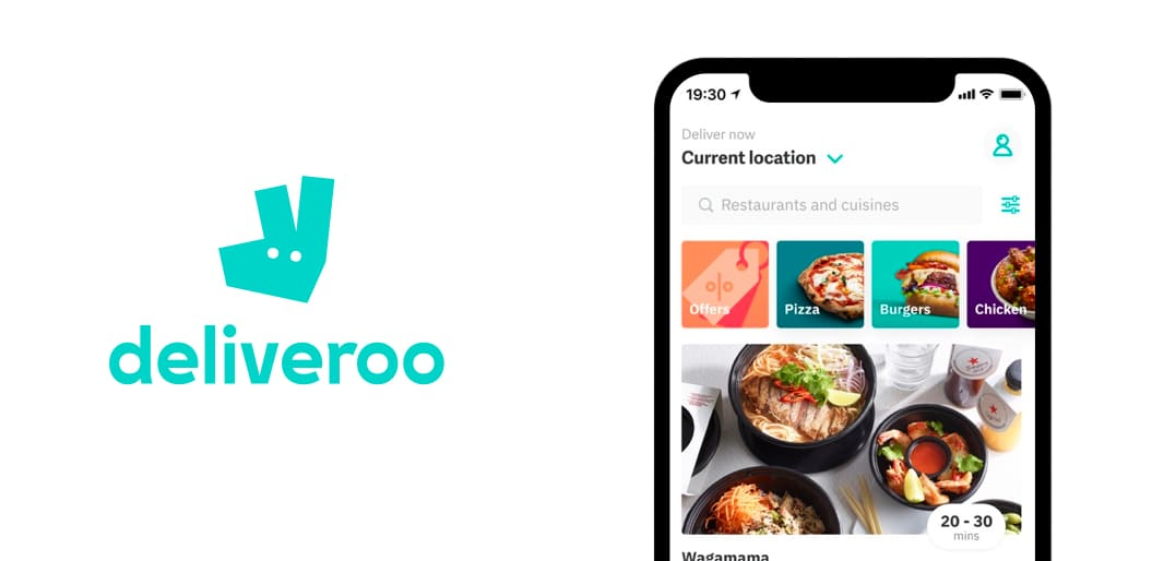 Deliveroo online food delivery app