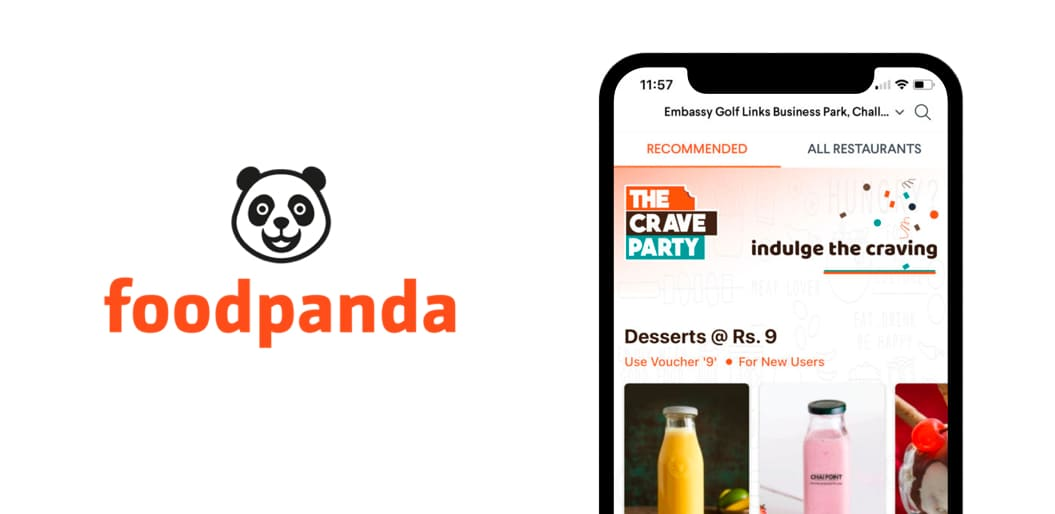FoodPanda online food ordering app