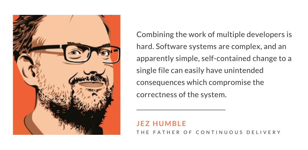 Jez Humble explaining the difficulty of implementing Continuous Integration and Continuous Deployment