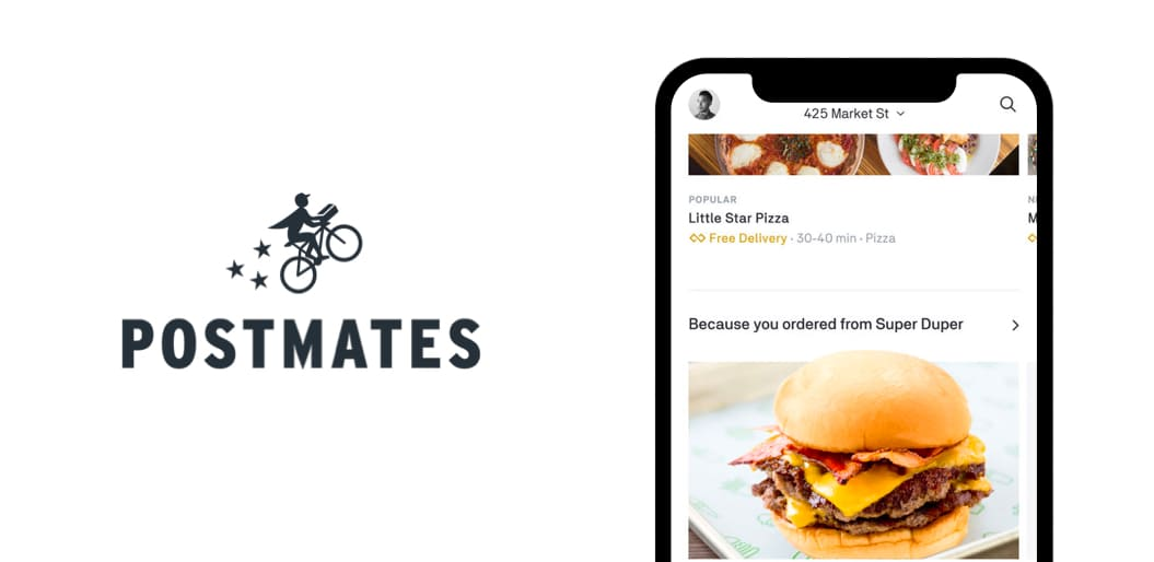 Postmates food delivery app