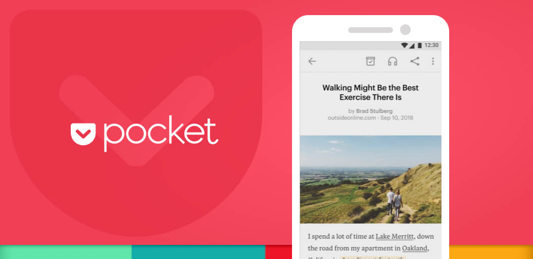 Pocket one of the top popular apps