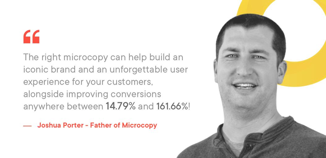 Joshua Porter explaining the importance of Microcopy