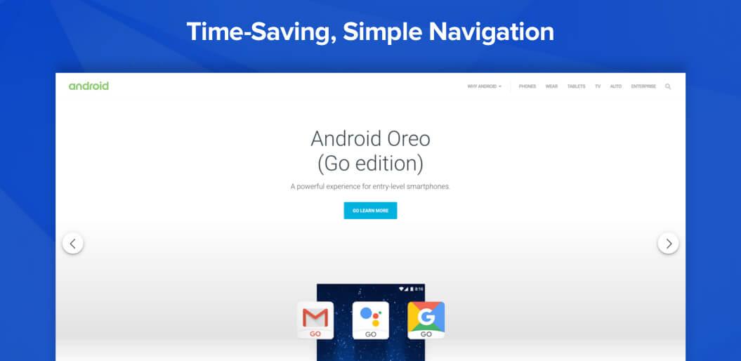 Simple navigation is permanent UX trend