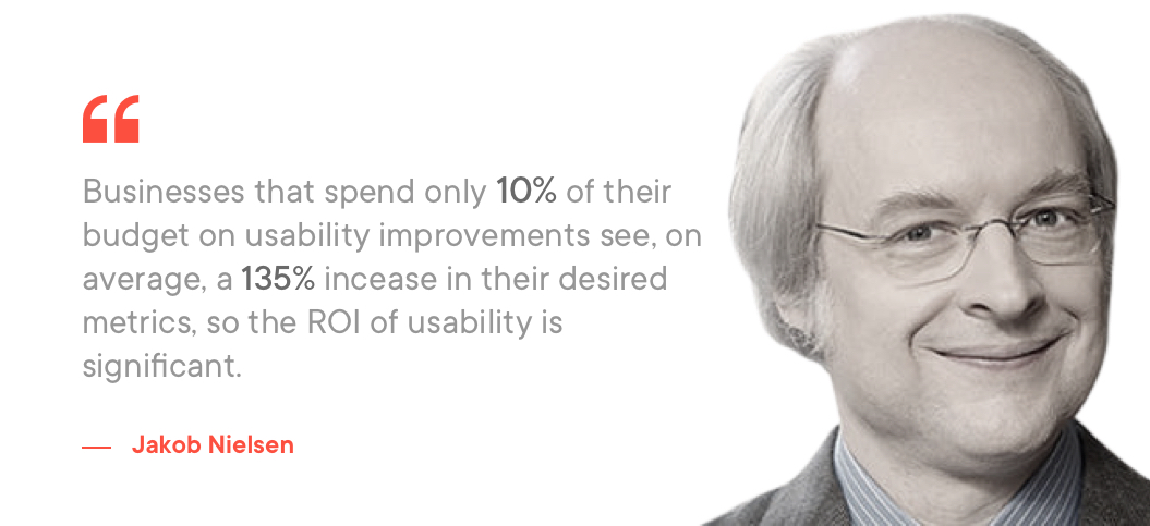 Jackob Nielsen on Usability improvements in UX design process