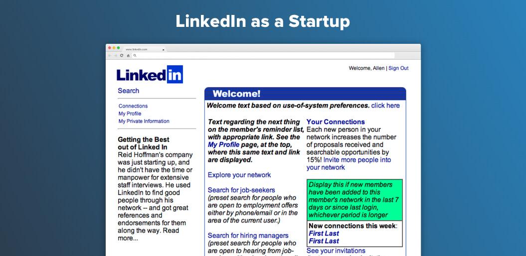 LinkedIn as Startup
