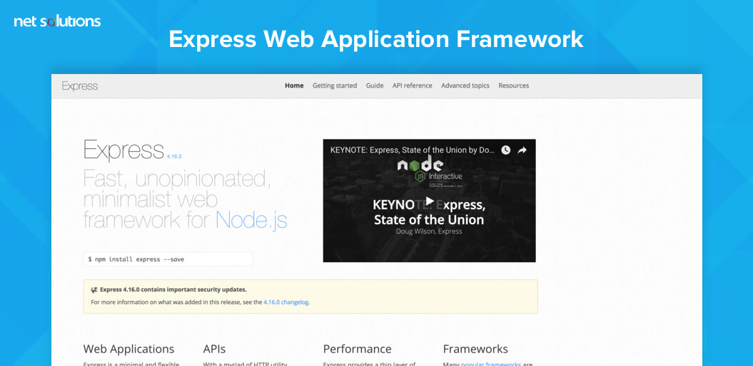 Express Web Application Framework
