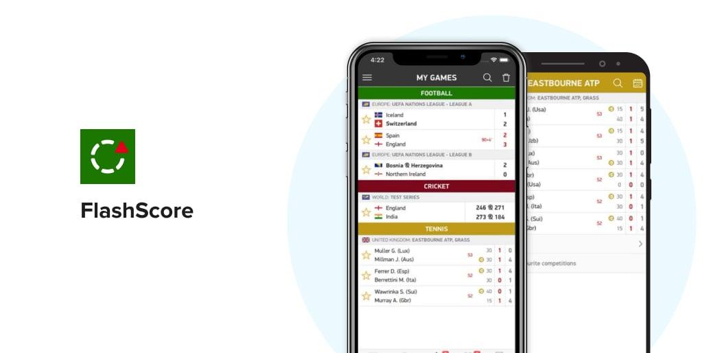 FlashScore sports app