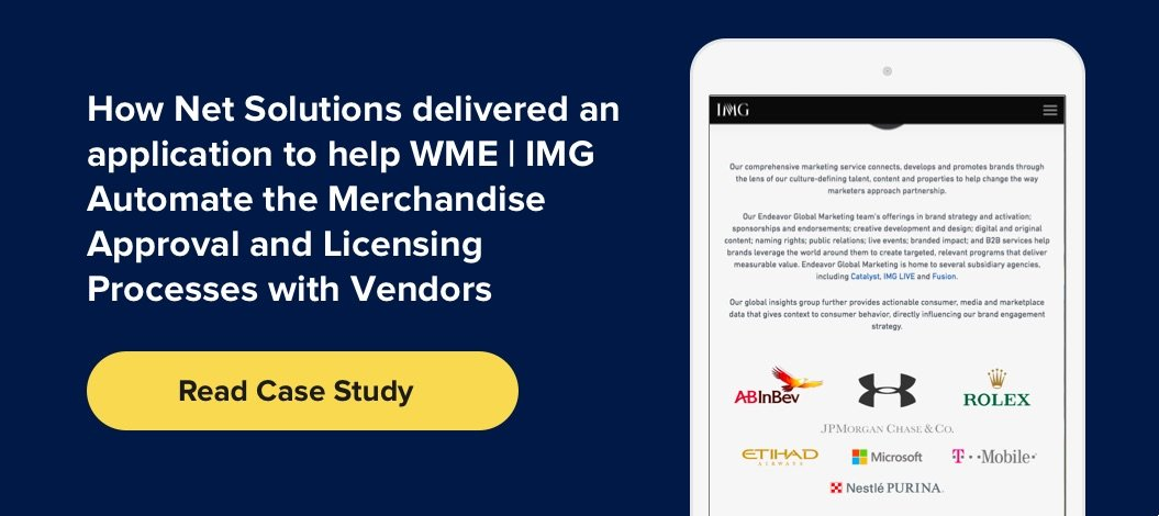 Case Study on how Net Solutions helped IMG develop a .NET application