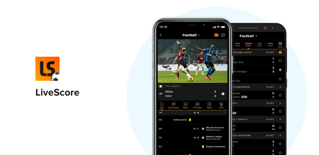 LiveScore sports app