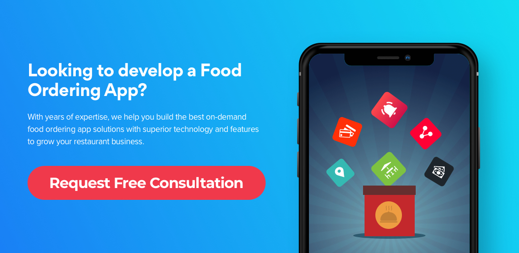 Contact us to build on demand food ordering app
