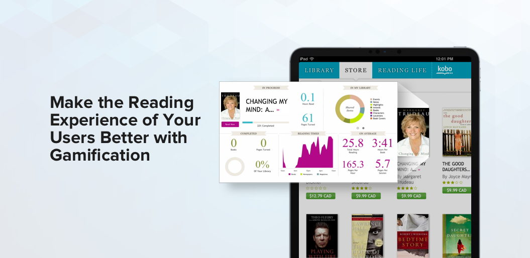Gamification in reading app