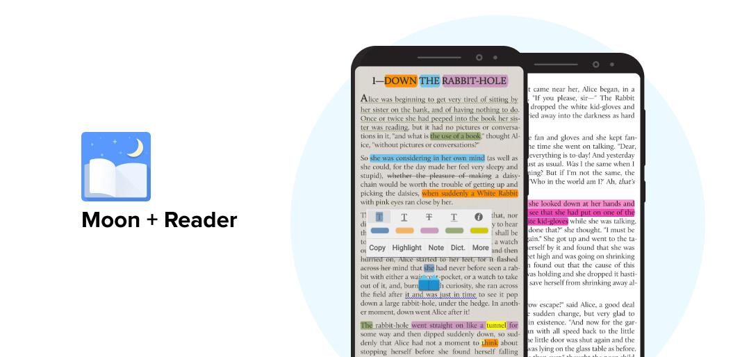 Moon+Reader book reading app