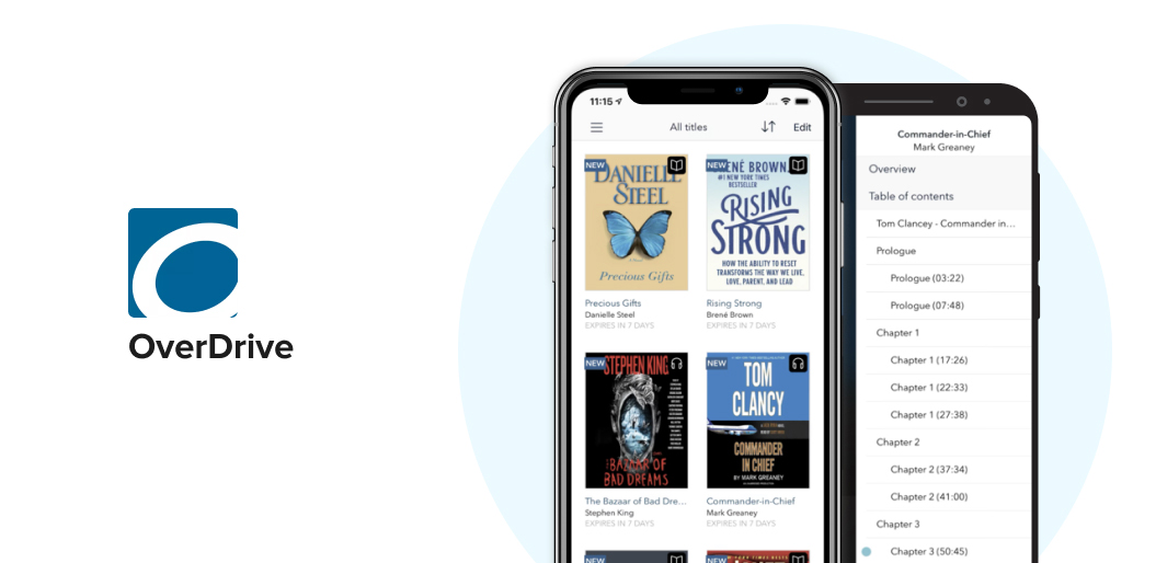 OverDrive book reading app