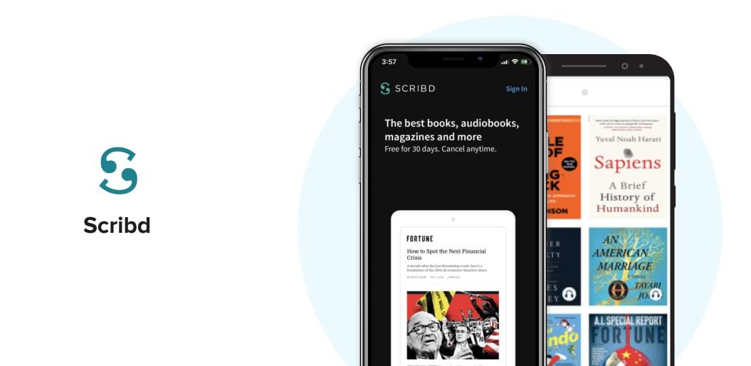 Scribd book reading app